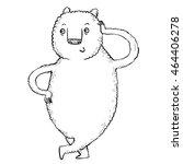 relaxed cute bear   Shutterstock . vector #464406278