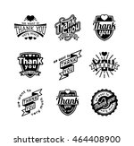vintage label thank you text... | Shutterstock .eps vector #464408900