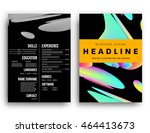 abstract background with liquid ... | Shutterstock .eps vector #464413673