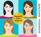 seasonal color analysis. set of ... | Shutterstock .eps vector #464419640