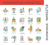 set vector icons. business and... | Shutterstock .eps vector #464422718