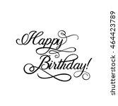 happy birthday card | Shutterstock .eps vector #464423789