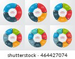 set of pie chart circle... | Shutterstock .eps vector #464427074