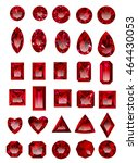 set of realistic red ruby... | Shutterstock .eps vector #464430053