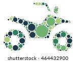 motorcycle shape vector design...   Shutterstock .eps vector #464432900