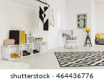 modern and unique anteroom... | Shutterstock . vector #464436776