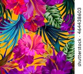 vector floral composition with... | Shutterstock .eps vector #464438603