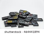 lots of colorful dominoes on... | Shutterstock . vector #464441894