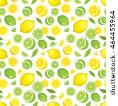 seamless pattern of citrus... | Shutterstock .eps vector #464455964
