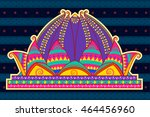 vector design of lotus temple... | Shutterstock .eps vector #464456960