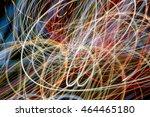 abstract night lights texture... | Shutterstock . vector #464465180