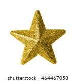 gold star isolated on white   Shutterstock . vector #464467058