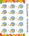 counting game for preschool... | Shutterstock .eps vector #464475320
