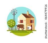 farm house. vector illustration. | Shutterstock .eps vector #464479916