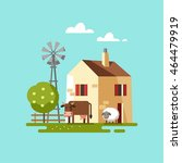 farm house. vector illustration. | Shutterstock .eps vector #464479919
