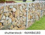 stones in metal wire cage  ... | Shutterstock . vector #464486183