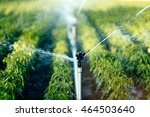 irrigation system in function... | Shutterstock . vector #464503640