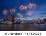 Fireworks Over Bay In Singapor...