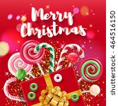 merry christmas greeting... | Shutterstock .eps vector #464516150