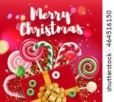 merry christmas greeting... | Shutterstock .eps vector #464516150