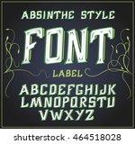 vector acid font. good for use... | Shutterstock .eps vector #464518028