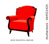 black swan royal armchair.... | Shutterstock .eps vector #464521424