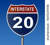 a 3d rendering of a highway... | Shutterstock . vector #464524448