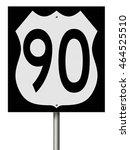 a 3d rendering of a highway... | Shutterstock . vector #464525510