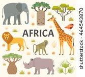 vector illustration of african... | Shutterstock .eps vector #464543870