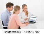 financial advisor showing... | Shutterstock . vector #464548700