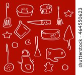 cooking utensils set of icons.... | Shutterstock .eps vector #464550623