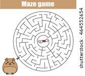 maze children game  help the... | Shutterstock .eps vector #464552654