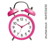 pink alarm clock on a white... | Shutterstock . vector #464553650