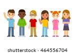 set of diverse cartoon children.... | Shutterstock . vector #464556704