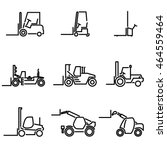 forklift icon set | Shutterstock .eps vector #464559464