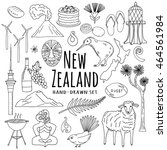 new zealand icons hand drawn...   Shutterstock .eps vector #464561984