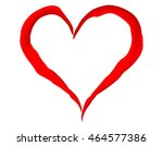 painted heart isolated on white ... | Shutterstock .eps vector #464577386