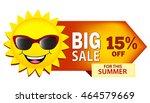 big sale summer sale... | Shutterstock .eps vector #464579669