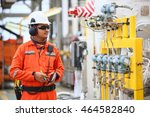 operator or worker recording... | Shutterstock . vector #464582840