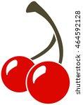 cherries  red  vector icon | Shutterstock .eps vector #464592128