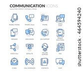 simple set of communication... | Shutterstock .eps vector #464594240