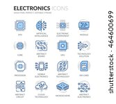 simple set of electronics... | Shutterstock .eps vector #464600699