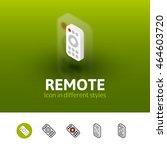remote color icon  vector...