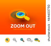 zoom out color icon  vector...