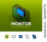 monitor color icon  vector...