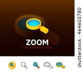 zoom color icon  vector symbol...