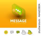 message color icon  vector...