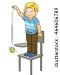 illustration of a little boy... | Shutterstock .eps vector #464606789