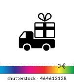 web line icon. truck with a... | Shutterstock .eps vector #464613128