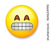 emoji isolated on white... | Shutterstock .eps vector #464624990